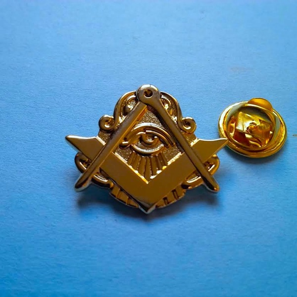 Master Mason All seen Eye Golden Finish