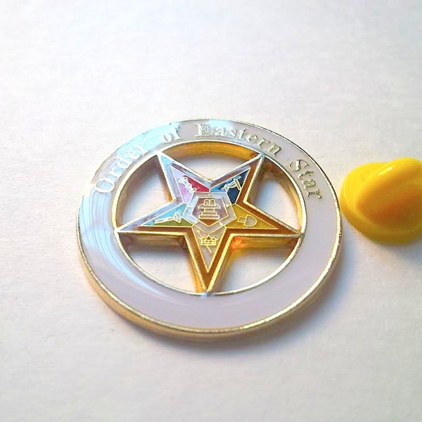 Order Of Eastern Star Large Pin