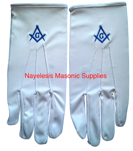 Master Mason Blue Lodge Gloves
